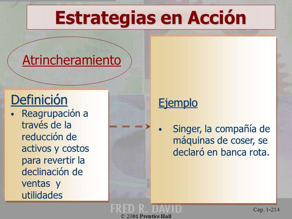 Estrategias en Acción Atrincheramiento Definición Ejemplo