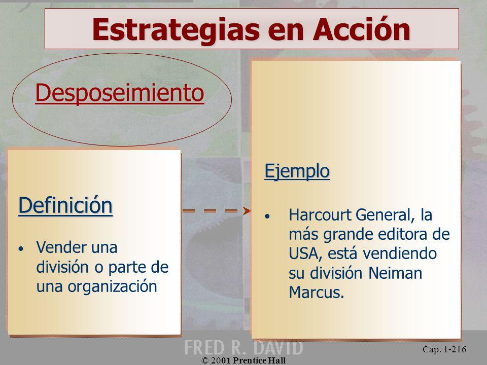 Estrategias en Acción Desposeimiento Definición Ejemplo
