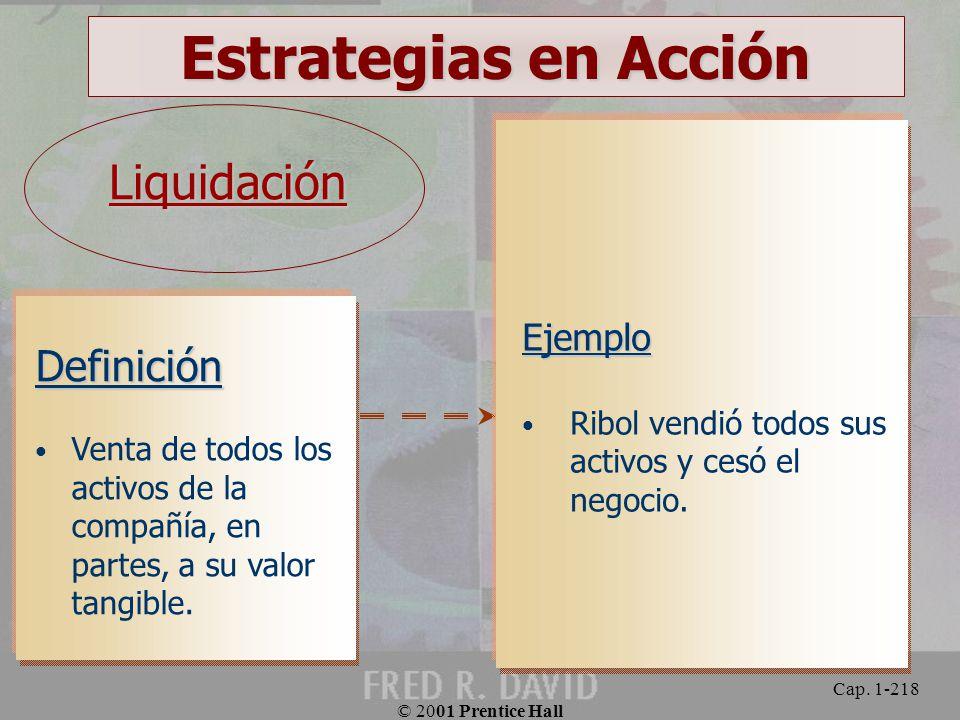 Estrategias en Acción Liquidación Definición Ejemplo