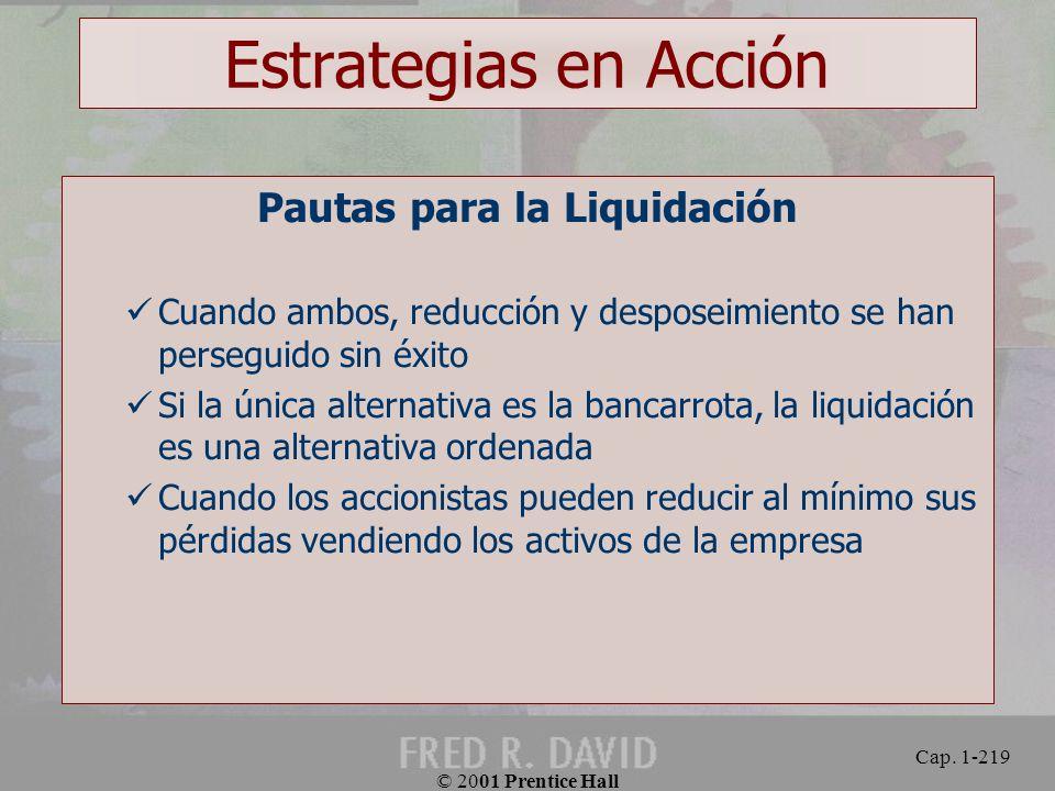 Pautas para la Liquidación