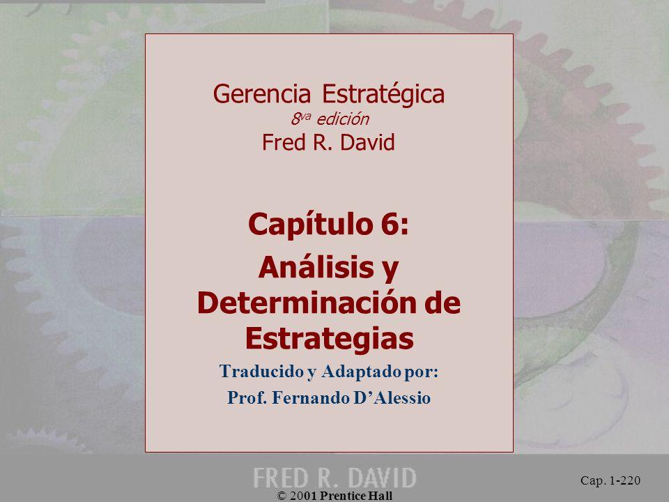 Capítulo 6: Análisis y Determinación de Estrategias