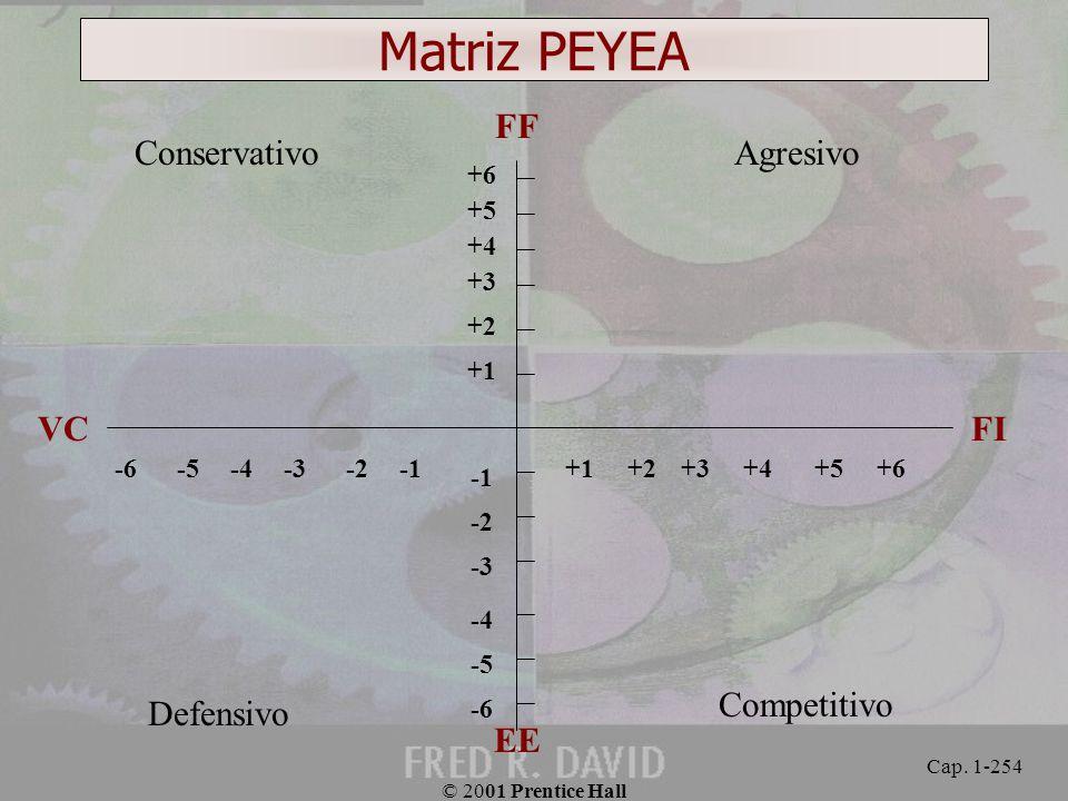 Matriz PEYEA FF Conservativo Agresivo VC FI Competitivo Defensivo EE