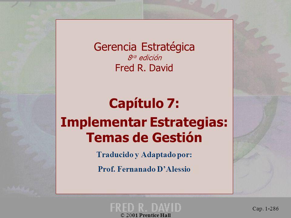 Capítulo 7: Implementar Estrategias: Temas de Gestión