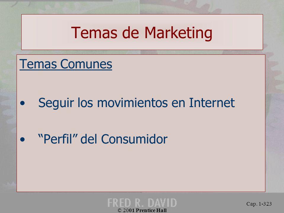 Temas de Marketing Temas Comunes Seguir los movimientos en Internet