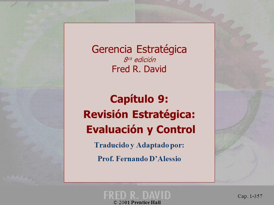 Capítulo 9: Revisión Estratégica: Evaluación y Control