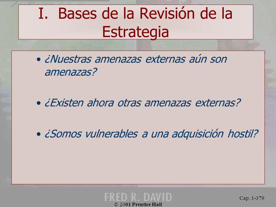 I. Bases de la Revisión de la Estrategia
