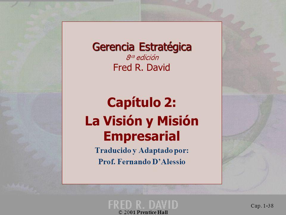 Capítulo 2: La Visión y Misión Empresarial