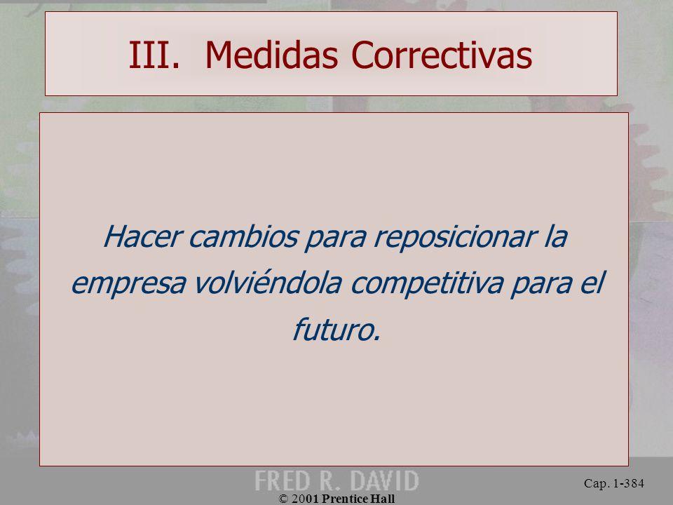 III. Medidas Correctivas