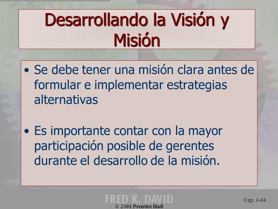 Desarrollando la Visión y Misión