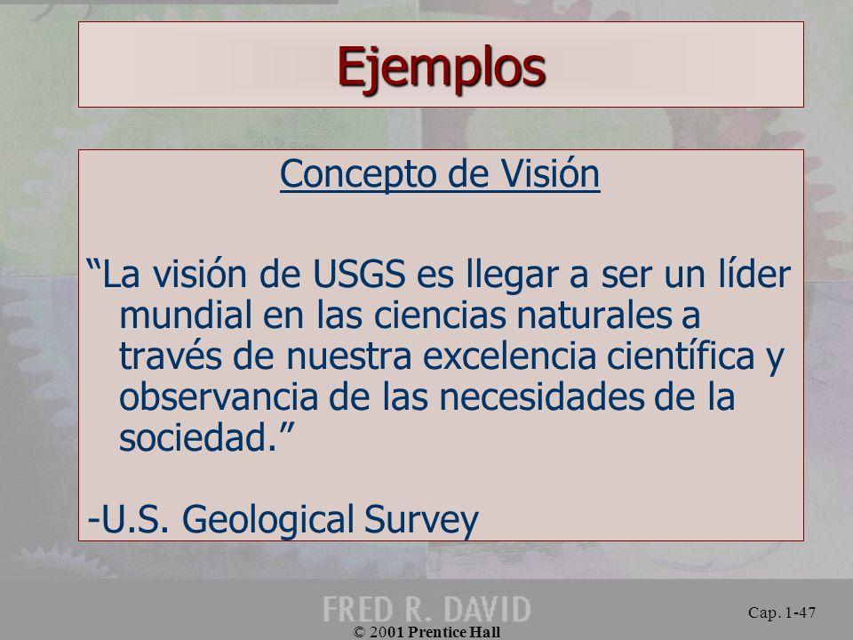 Ejemplos Concepto de Visión