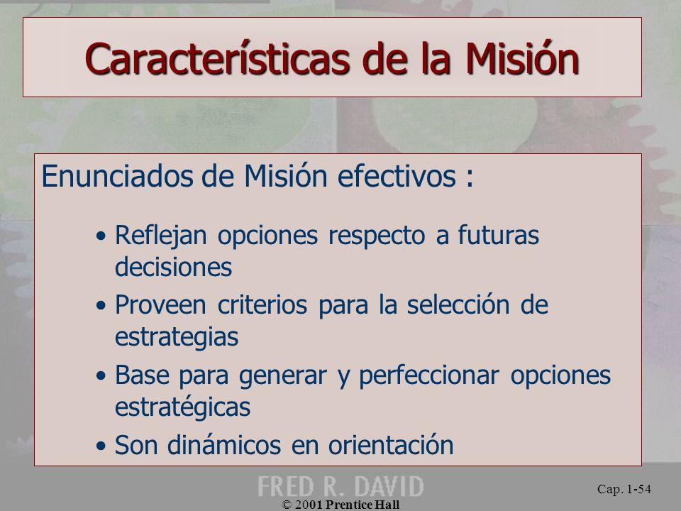 Características de la Misión