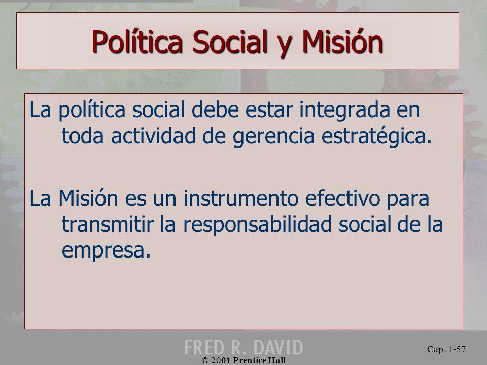 Política Social y Misión