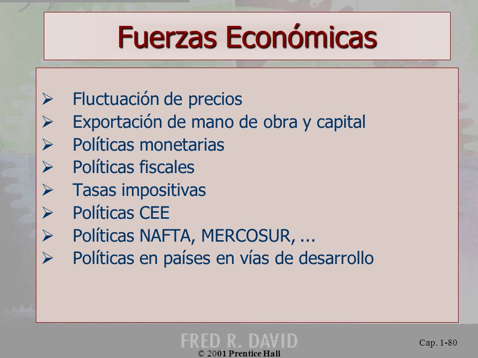 Fuerzas Económicas Fluctuación de precios