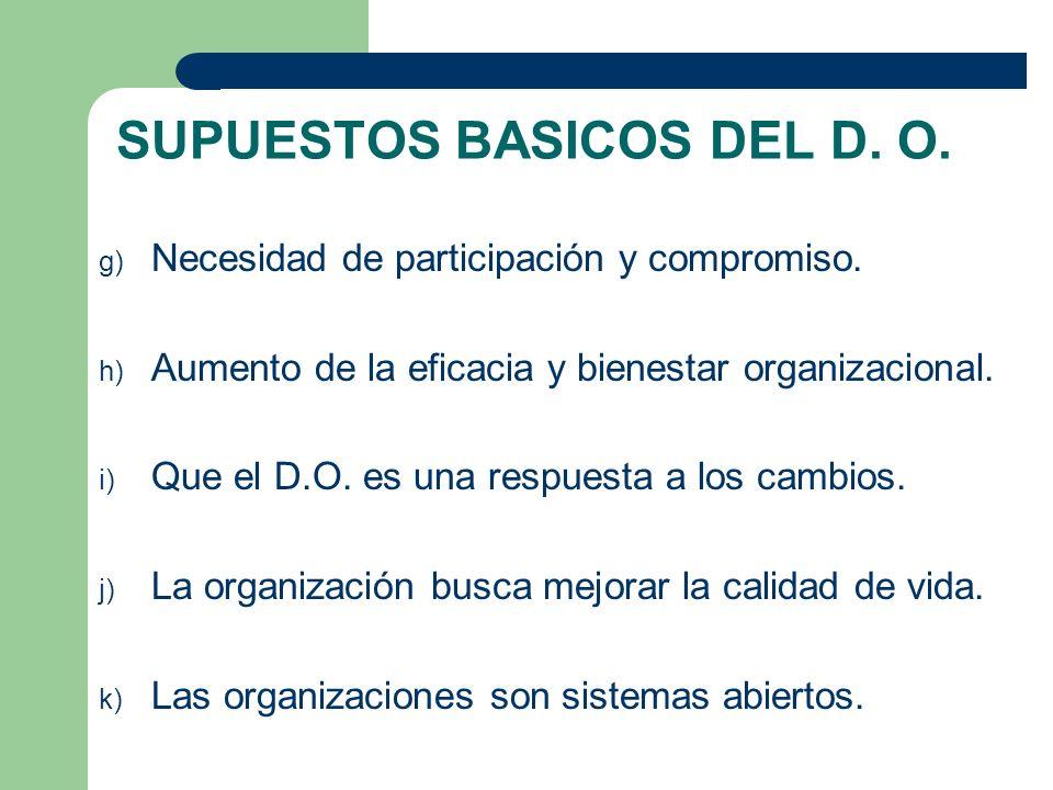 SUPUESTOS BASICOS DEL D. O.