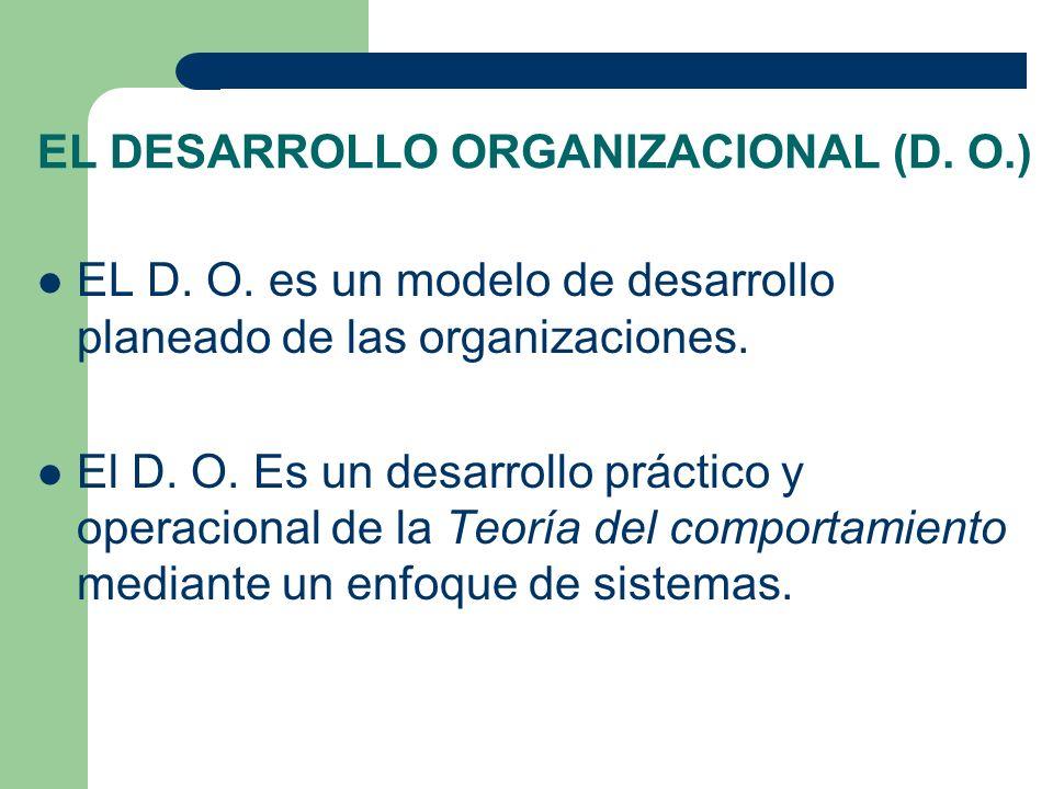 EL DESARROLLO ORGANIZACIONAL (D. O.)