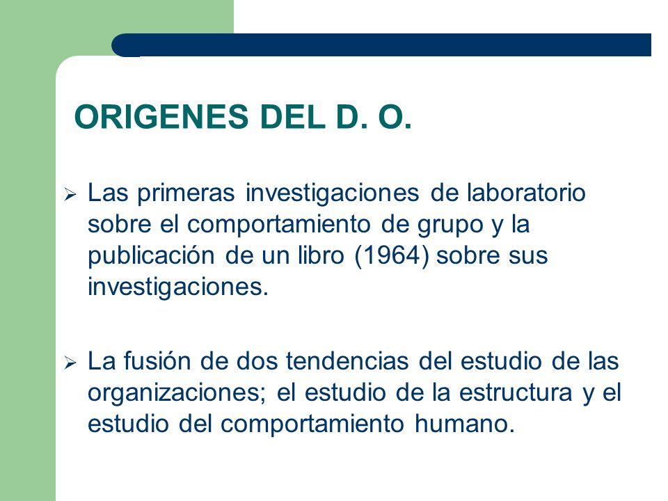 ORIGENES DEL D. O.