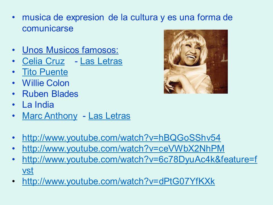 musica de expresion de la cultura y es una forma de comunicarse