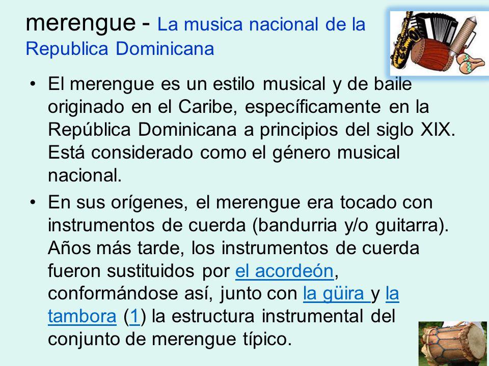 merengue - La musica nacional de la Republica Dominicana