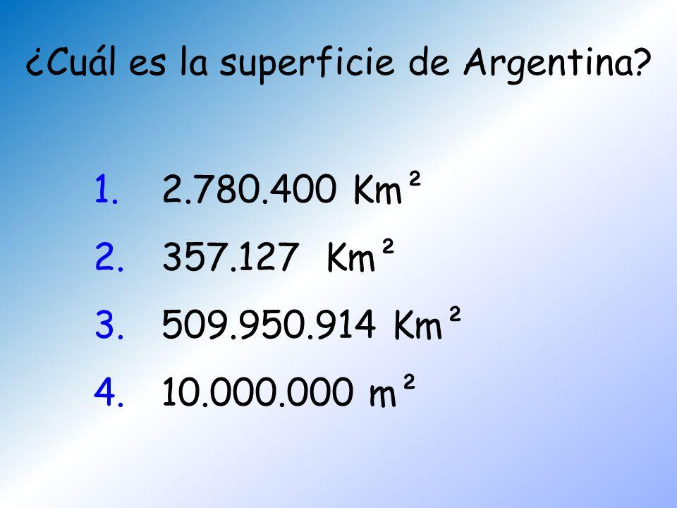 ¿Cuál es la superficie de Argentina