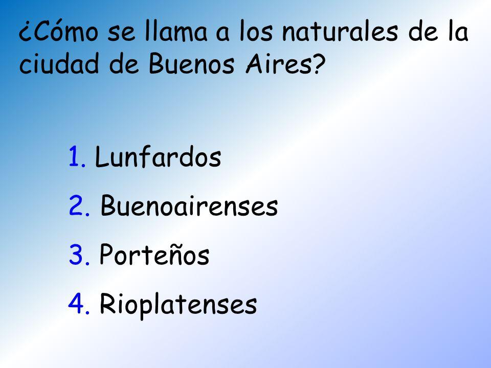 ¿Cómo se llama a los naturales de la ciudad de Buenos Aires