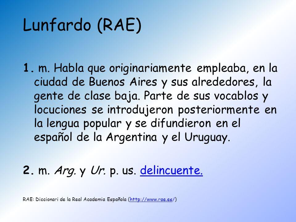 Lunfardo (RAE)