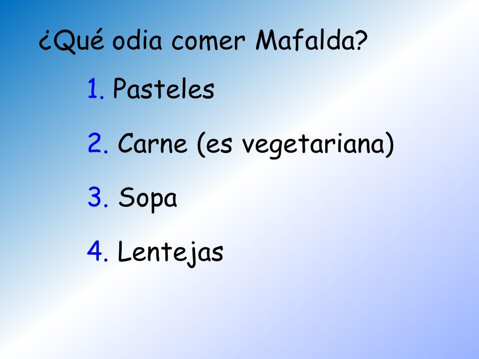 ¿Qué odia comer Mafalda