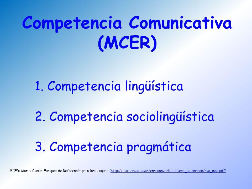 Competencia Comunicativa (MCER)