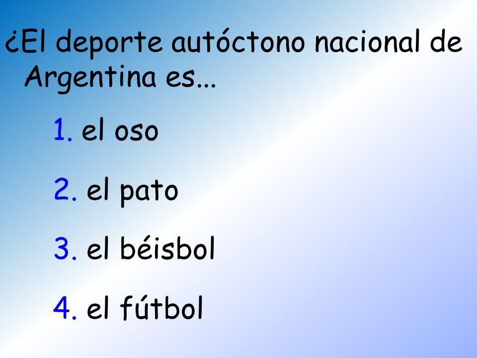 ¿El deporte autóctono nacional de Argentina es...