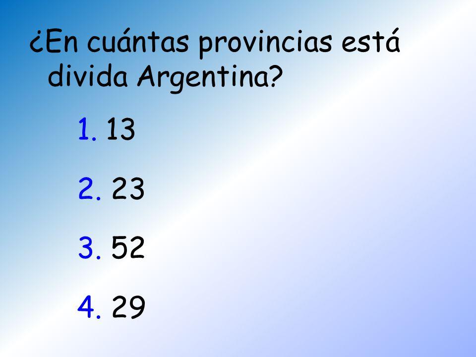 ¿En cuántas provincias está divida Argentina