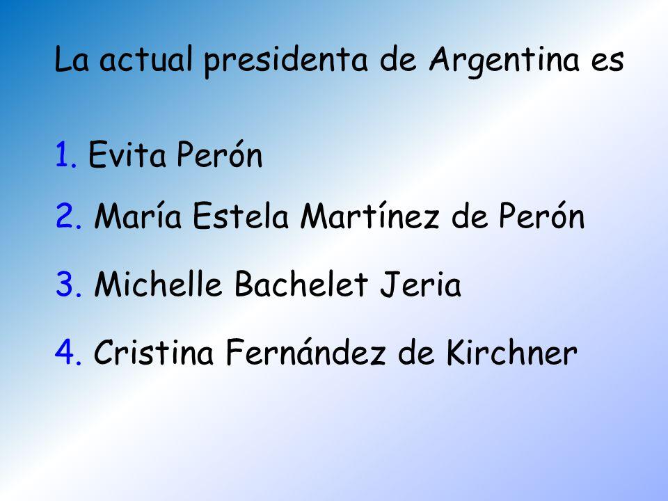 La actual presidenta de Argentina es