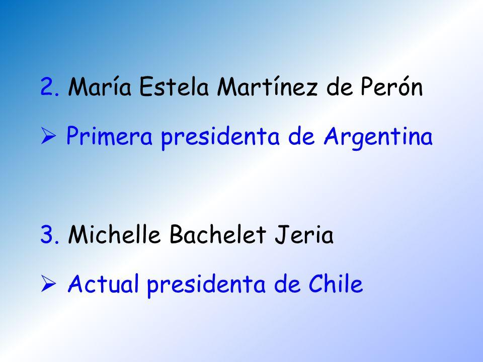 2. María Estela Martínez de Perón