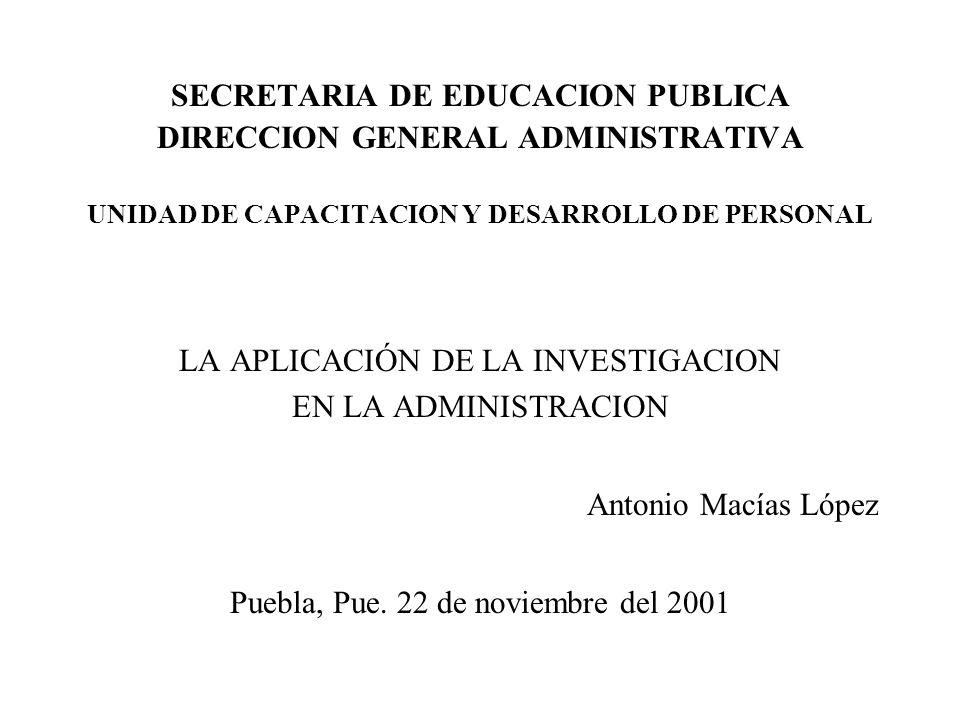 SECRETARIA DE EDUCACION PUBLICA DIRECCION GENERAL ADMINISTRATIVA