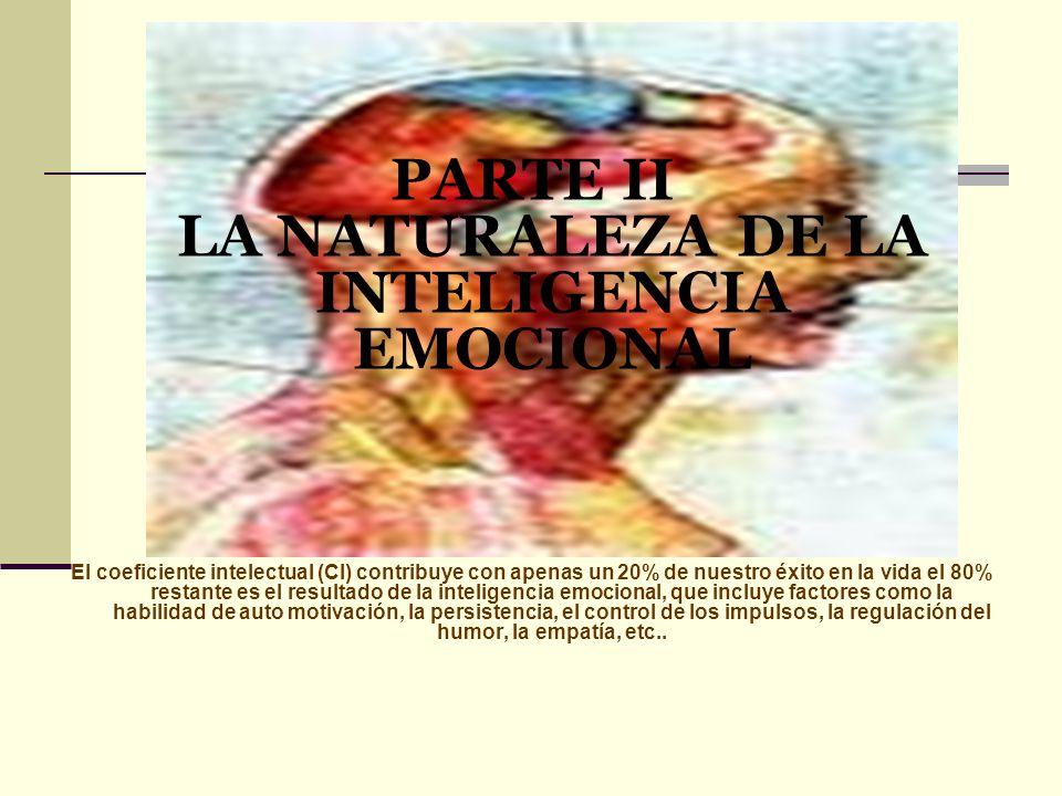 PARTE II LA NATURALEZA DE LA INTELIGENCIA EMOCIONAL