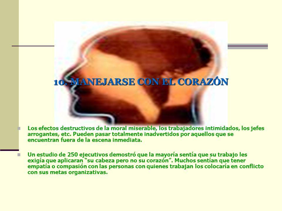 10. MANEJARSE CON EL CORAZÓN