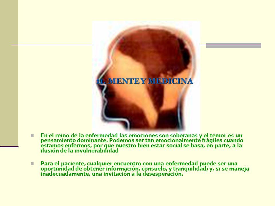 11. MENTE Y MEDICINA