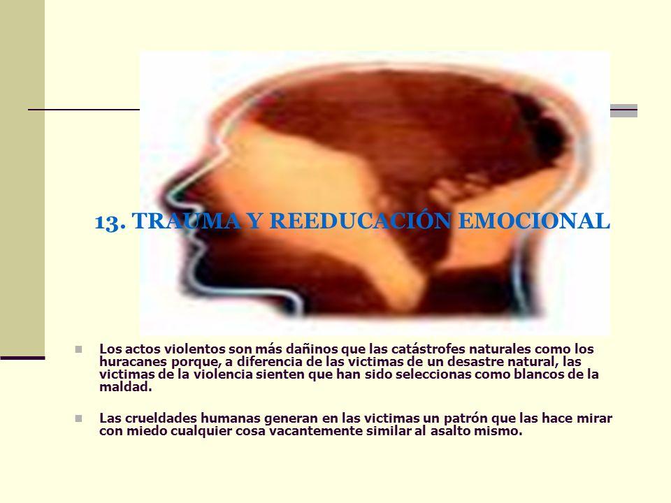 13. TRAUMA Y REEDUCACIÓN EMOCIONAL
