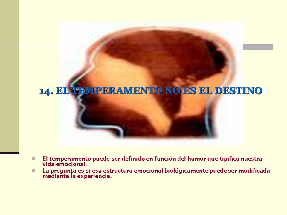 14. EL TEMPERAMENTO NO ES EL DESTINO