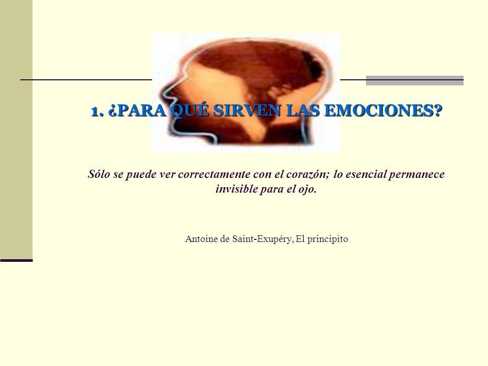 1. ¿PARA QUÉ SIRVEN LAS EMOCIONES