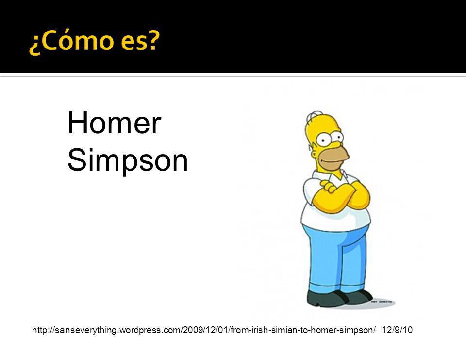 ¿Cómo es. Homer Simpson.