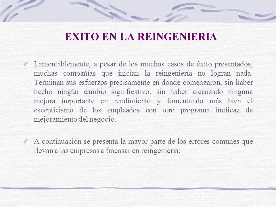 EXITO EN LA REINGENIERIA