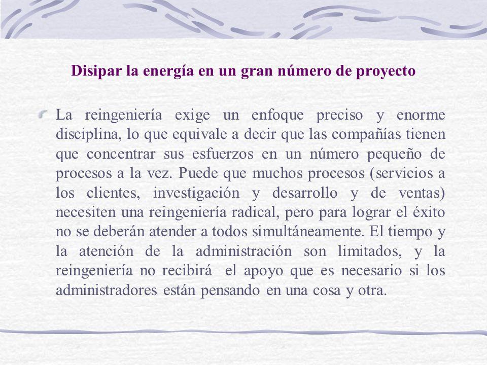 Disipar la energía en un gran número de proyecto