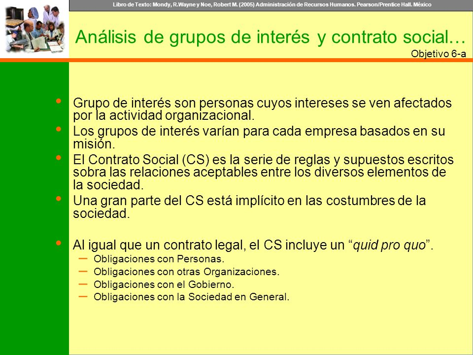 Análisis de grupos de interés y contrato social…