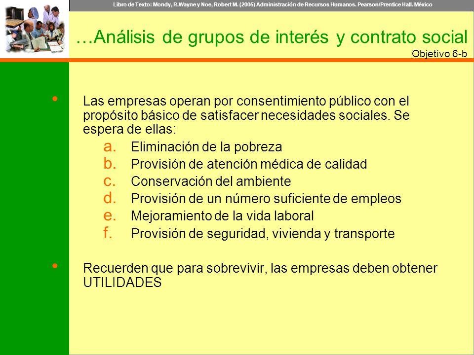 …Análisis de grupos de interés y contrato social