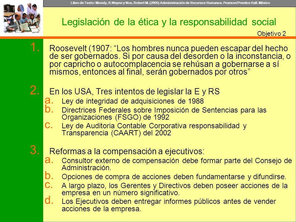 Legislación de la ética y la responsabilidad social