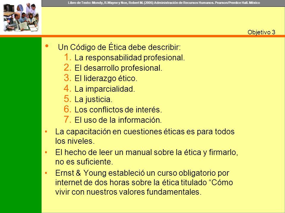 Un Código de Ética debe describir: La responsabilidad profesional.