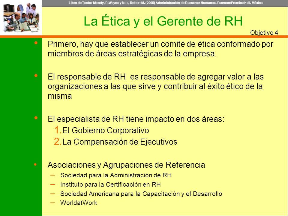 La Ética y el Gerente de RH