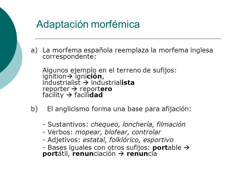 Adaptación morfémica
