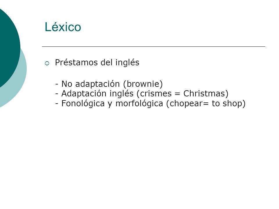 Léxico Préstamos del inglés