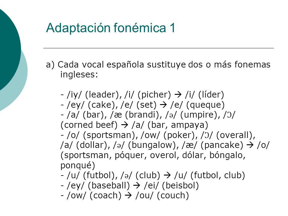 Adaptación fonémica 1