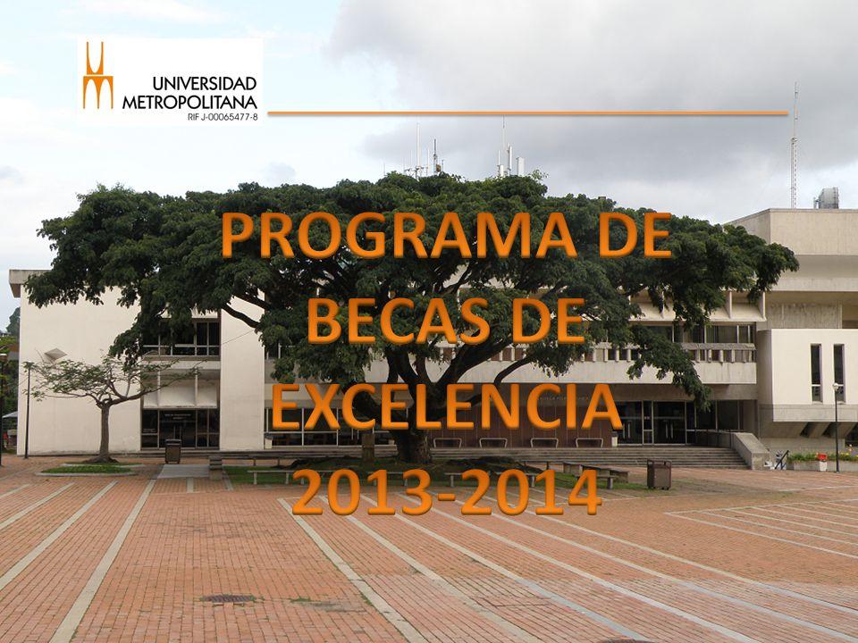 PROGRAMA DE BECAS DE EXCELENCIA 2013-2014